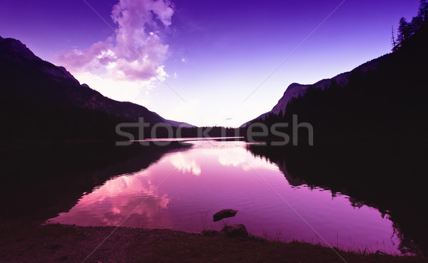 tovel lake at sunset Stock photo © tiero