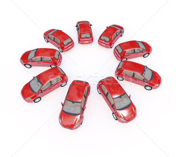 Stock photo: cars 3d