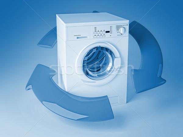Reciclar lavadora 3D imagen clásico flechas Foto stock © tiero
