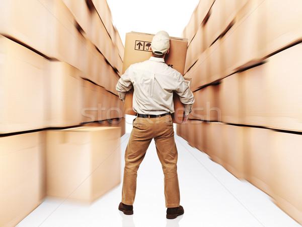 Сток-фото: скорости · работу · коробки · 3D · человека