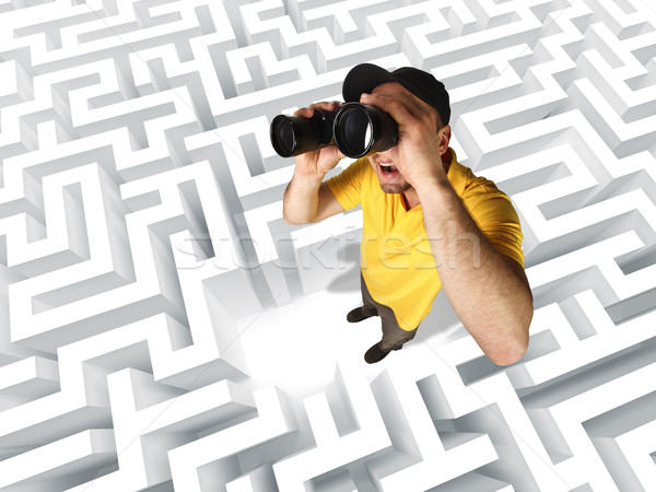 looking for solution Stock photo © tiero
