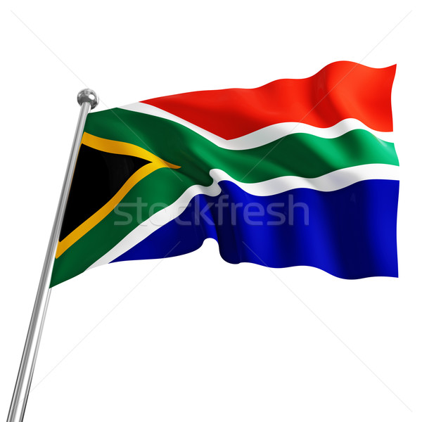 south africa flag Stock photo © tiero