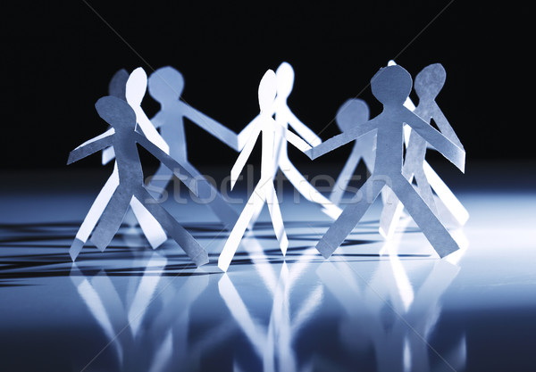 paper group circle people Stock photo © tiero