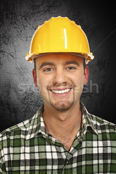 smiling handyman portrait Stock photo © tiero