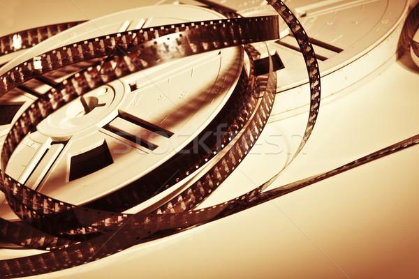 Film film klasik bağbozumu ışık ev Stok fotoğraf © tiero