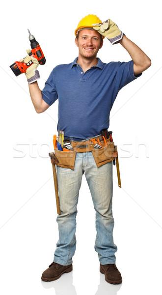 standing manual worker Stock photo © tiero