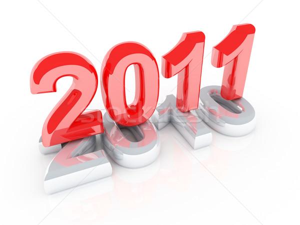 Nieuwjaar nieuwe Rood jaar 2011 grijs Stockfoto © tiero