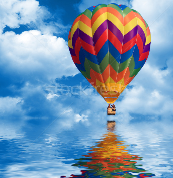 sky background and hot air balloon Stock photo © tiero