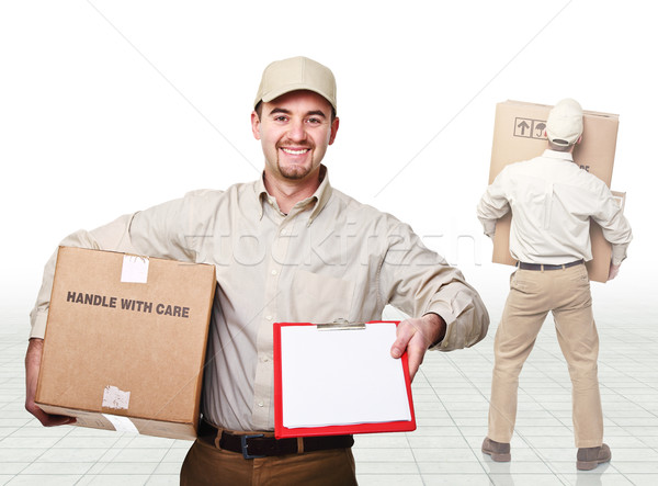 delivery man at work Stock photo © tiero