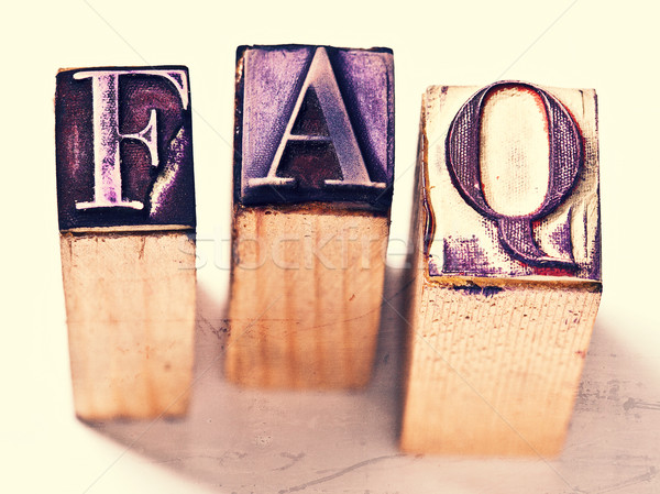 Frequently asked questions Stock photo © tiero