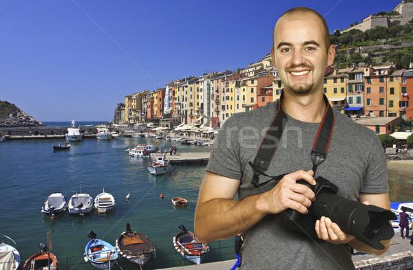ünnep Olaszország mosolyog férfi híres hely Stock fotó © tiero