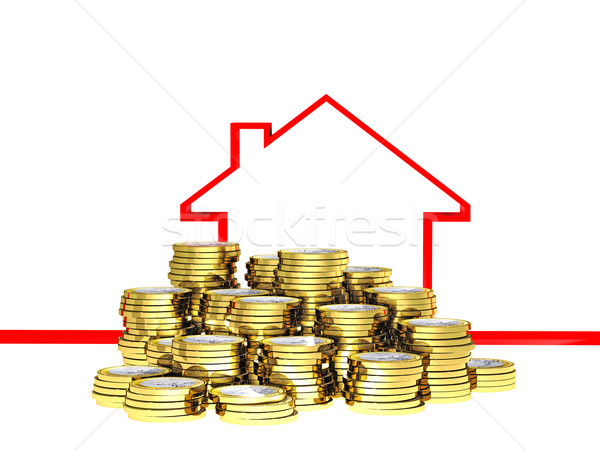 euro con and 3d house Stock photo © tiero