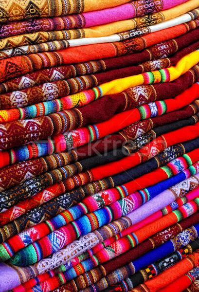 peruvian fabric background Stock photo © tiero