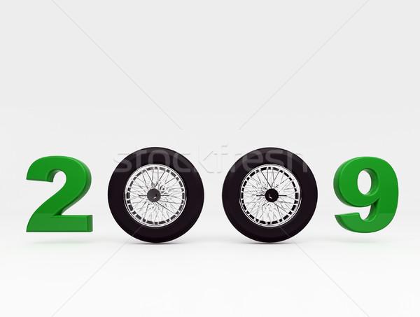 2009 3D görüntü yeni yıl parti Stok fotoğraf © tiero