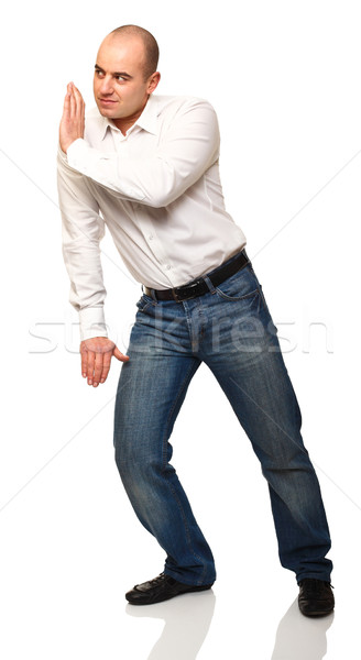man push pose Stock photo © tiero