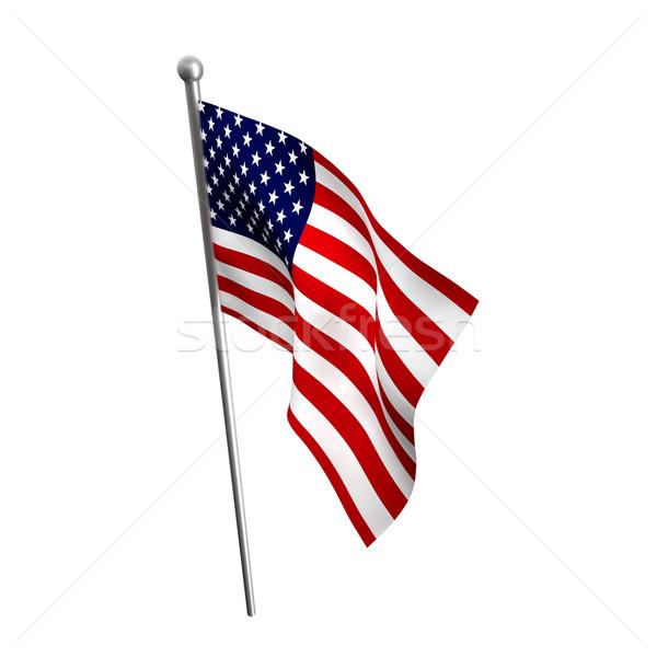Edad gloria EUA bandera aislado blanco Foto stock © tiero