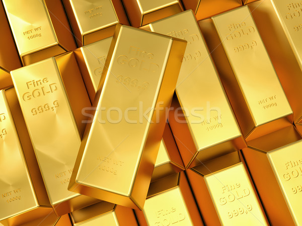 gold ingot Stock photo © tiero