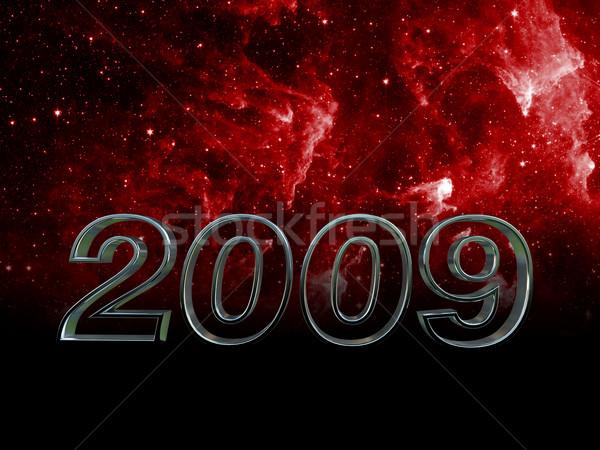 Sıcak 2009 görüntü 3D uzay parti Stok fotoğraf © tiero