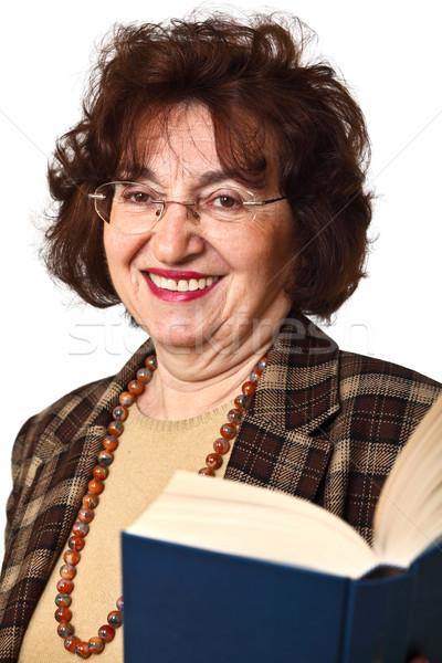 Sonriendo altos maestro retrato vieja aislado Foto stock © tiero
