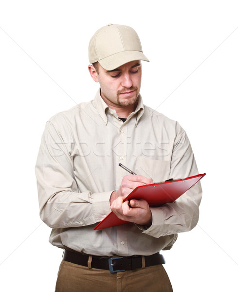 delivery man on duty Stock photo © tiero
