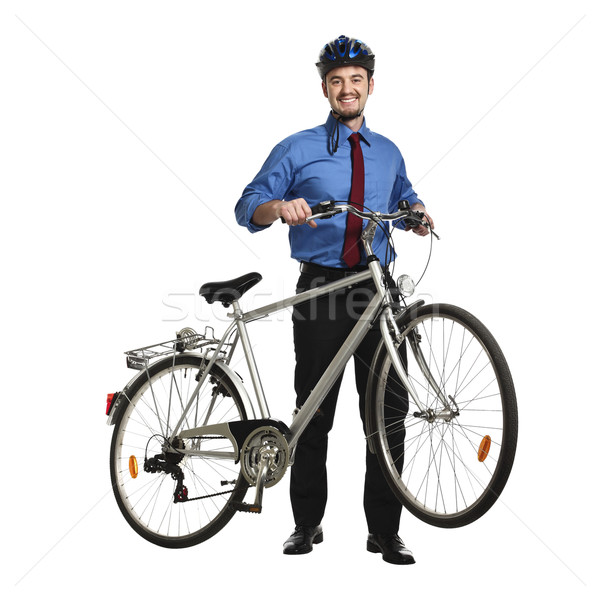 businessman and bicycle Stock photo © tiero