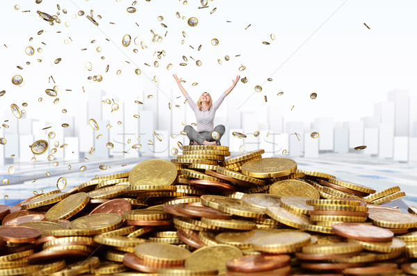 happy rich woman Stock photo © tiero