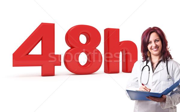 Doktor 3D görüntü kadın çalışmak sağlık Stok fotoğraf © tiero