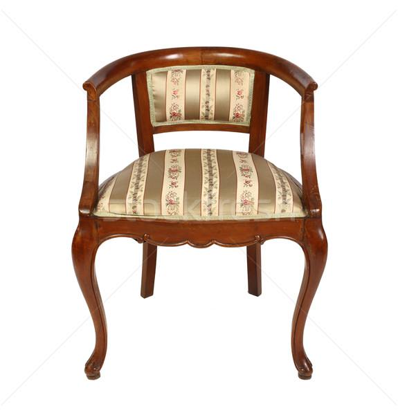 итальянский старые кресло изолированный белый Сток-фото © tiero