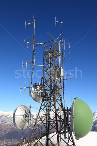 Antena montanha imagem inverno tempo Foto stock © tiero