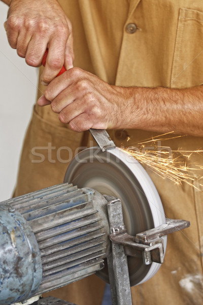 handyman work at grindstone Stock photo © tiero
