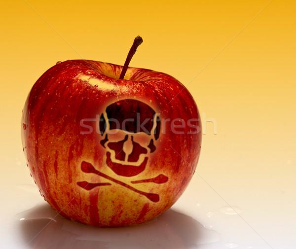 Rosso veleno mela immagine bianco giardino Foto d'archivio © tiero