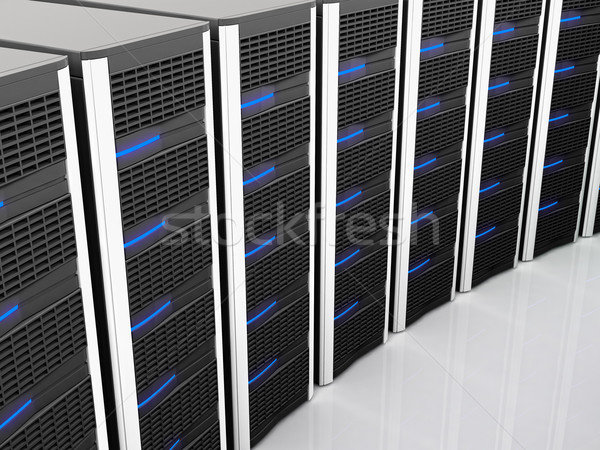Servidor 3D imagem clássico preto tecnologia Foto stock © tiero