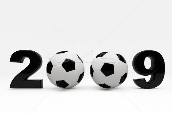 Futball 2009 labda 3D kép futballabda Stock fotó © tiero
