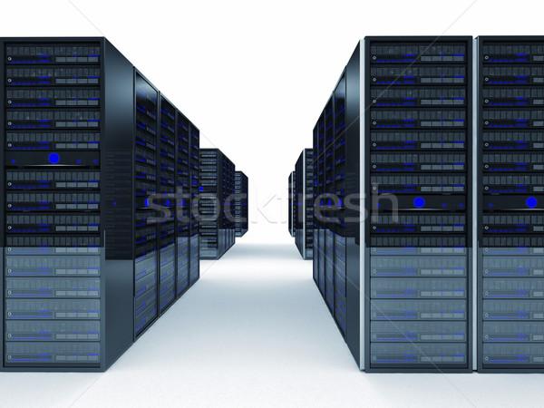 Szerver 3D kép számítógép technológia biztonság Stock fotó © tiero