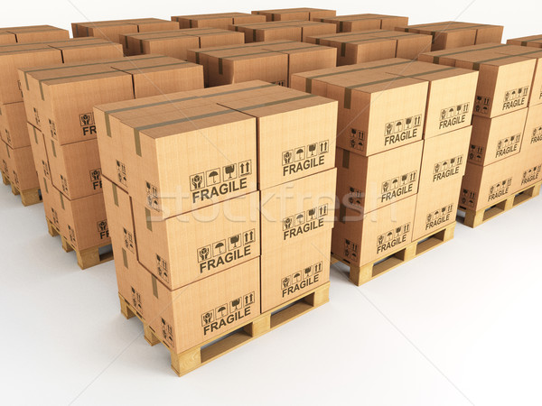 boxes and pallets Stock photo © tiero