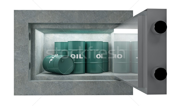 Tank olie veiligheid vak 3D afbeelding Stockfoto © tiero