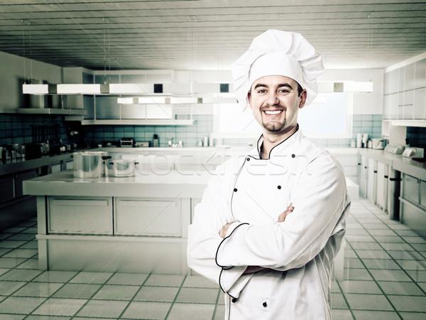 smiling chef Stock photo © tiero