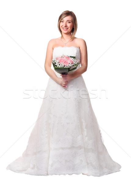 bride on white Stock photo © tiero