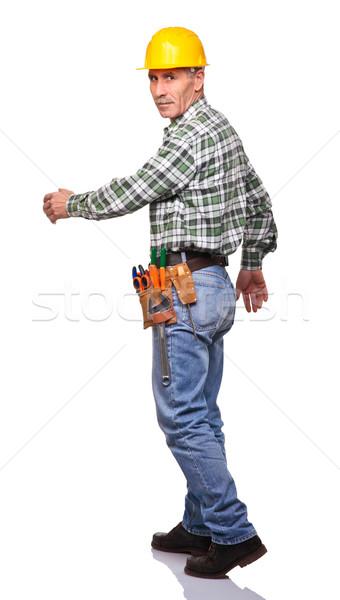walking carpenter Stock photo © tiero