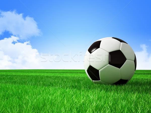 サッカー フットボールの競技場 3D 画像 ストックフォト © tiero