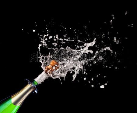 Foto stock: Champanhe · garrafa · cortiça · 2011 · texto · festa