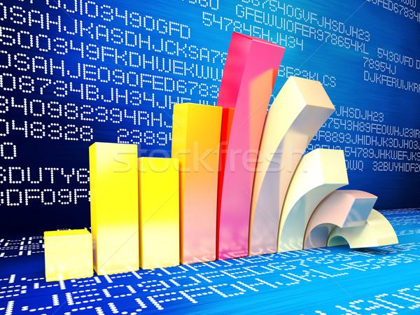 Finansal kriz 3D mecaz görüntü iş başarı Stok fotoğraf © tiero