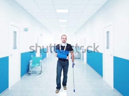 Człowiek kula szpitala medycznych muzyka garnitur Zdjęcia stock © tiero