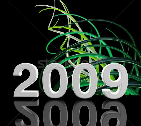 2009 3D görüntü ağaç parti soyut Stok fotoğraf © tiero