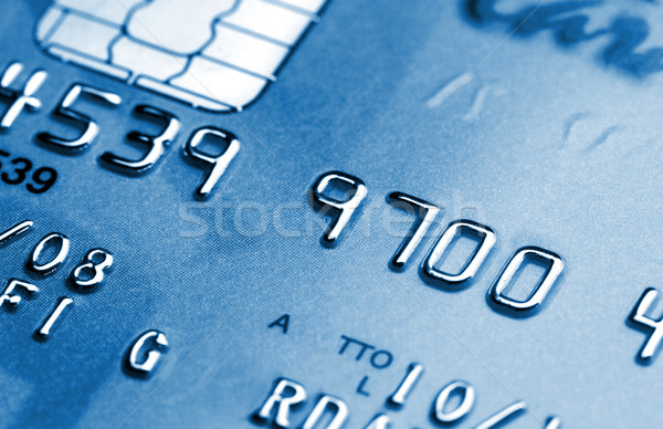 blue credit card Stock photo © tiero