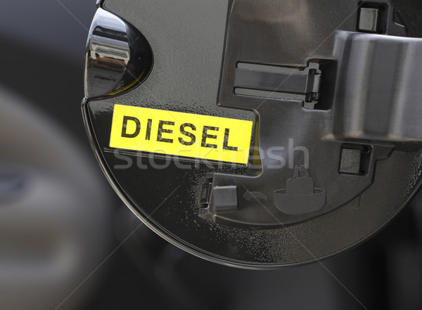 Dizel görüntü yazmak detay yakıt kapı Stok fotoğraf © tiero