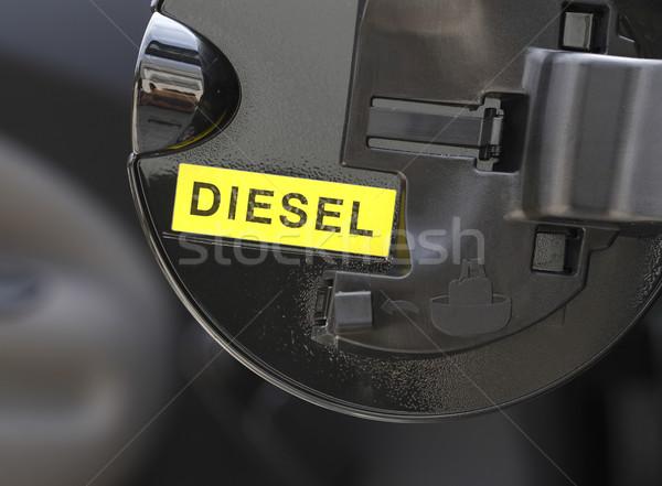 Diesel imagem escrever pormenor combustível porta Foto stock © tiero