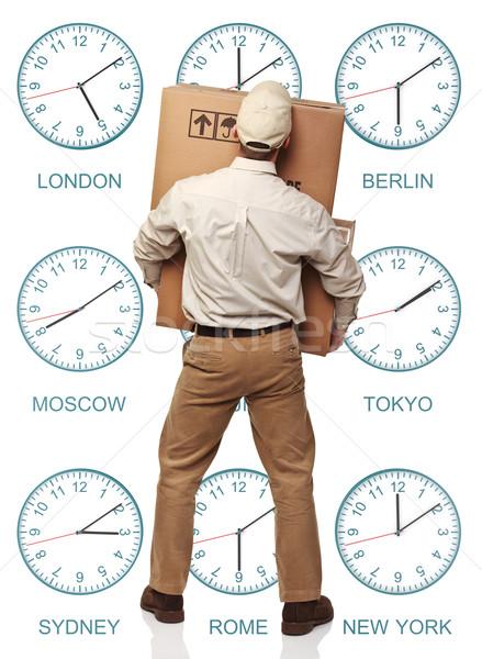 time zone delivery Stock photo © tiero