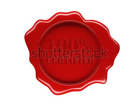 wax seal Stock photo © tiero