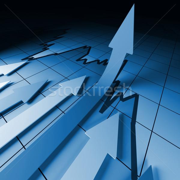 financial stat arrows Stock photo © tiero